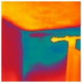 Thermal imaging without air leakage fan running