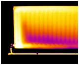 Sediment build up in radiator visualised with thermal imaging