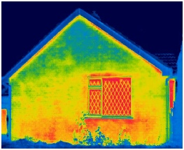Building thermography heat loss